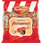 rot front RF Karamel Moskvichka in schoko 250g