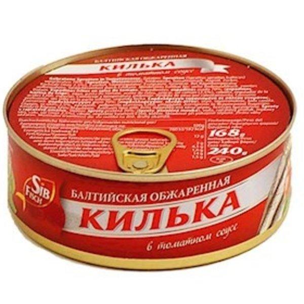 sibfisch Шпроты/Килька обжар.в том.соусе 240г