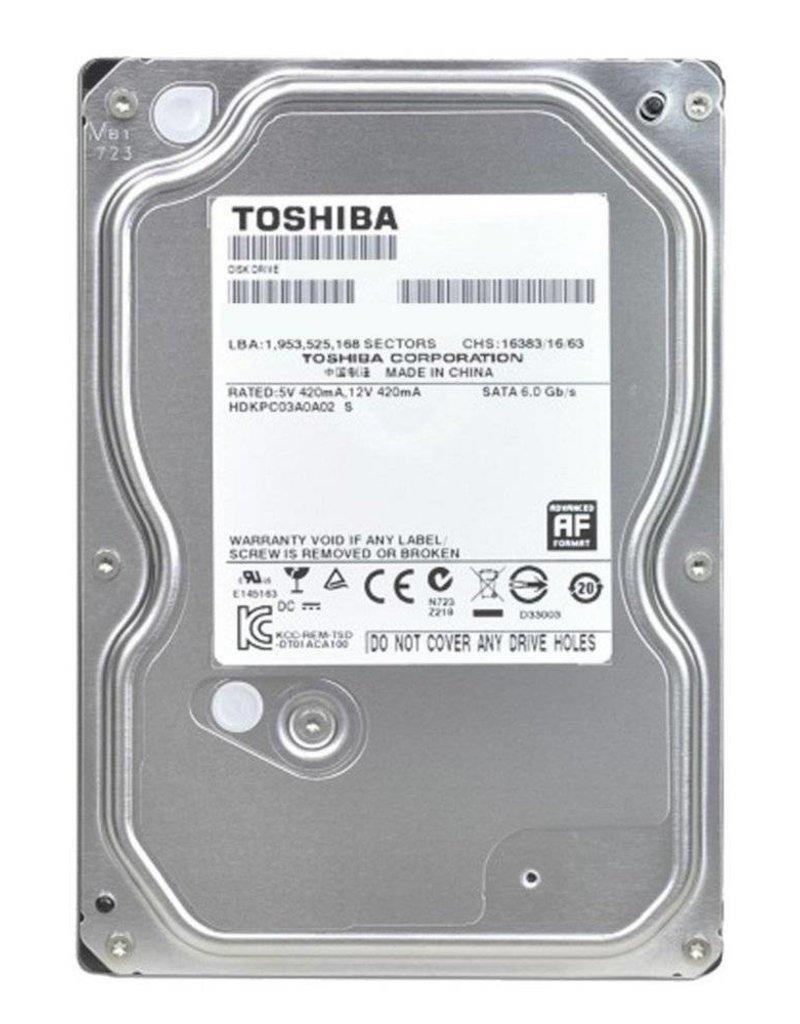 Toshiba HDD  1TB - 3.5inch - 7200RPM - 32MB - SATA3
