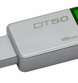 Kingston Technology DataTraveler 50 16GB USB flash drive USB Type-A 3.0 (3.1 Gen 1) Groen, Zilver