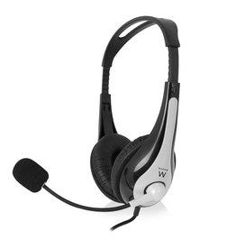 Ewent EW3562 Stereofonisch Hoofdband Zwart, Zilver hoofdtelefoon