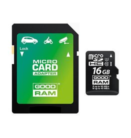 Goodram 16GB Micro SD + adapt /4K Class 10