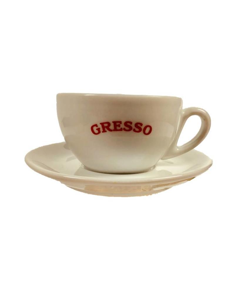 GRESSO Cappuccinotasse mit Teller