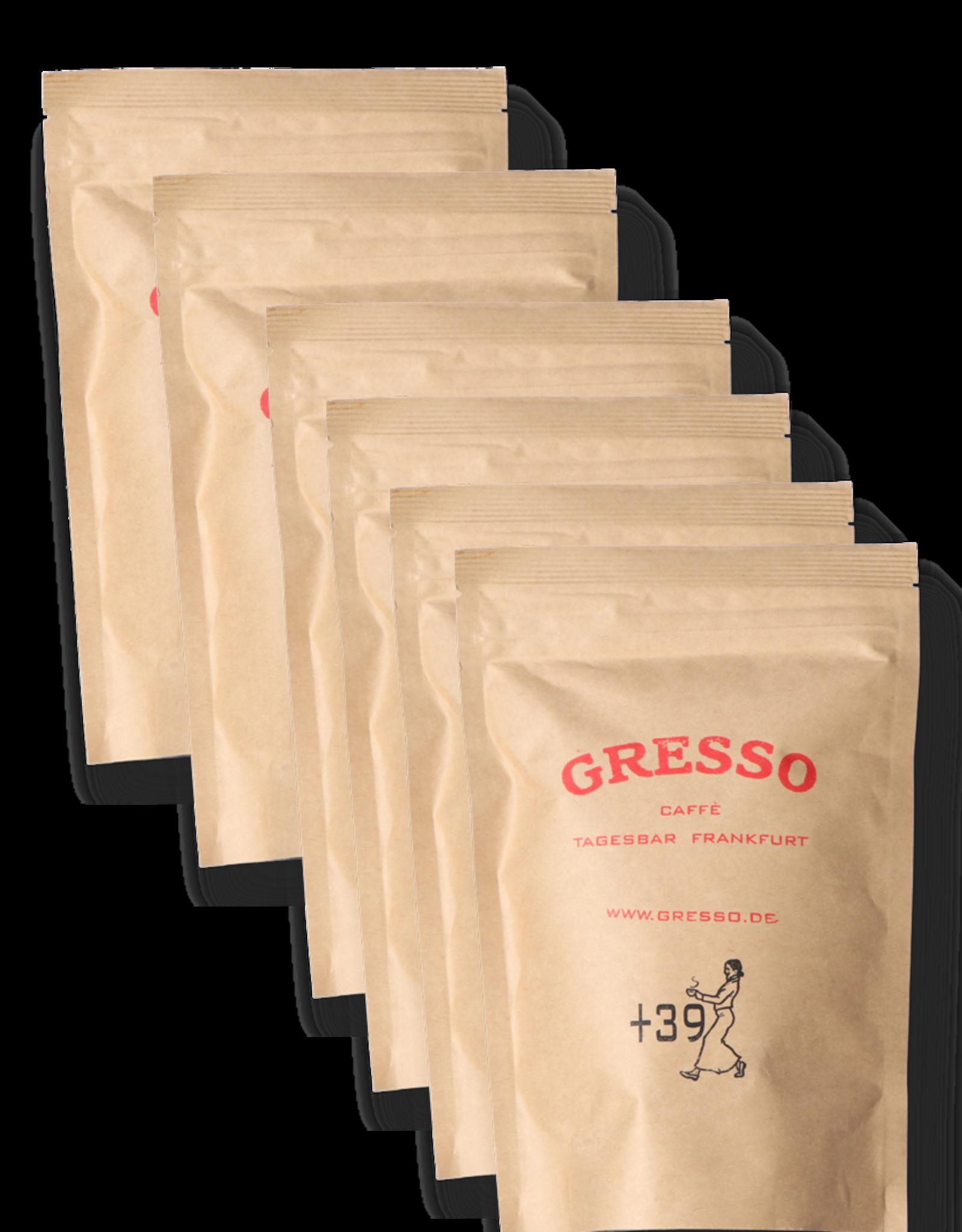 GRESSO Caffè +39 Der Italiener 80 % Arabica, 20% Robusta