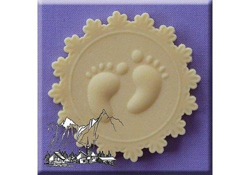 baby feet voetjes cupcake topper AM0113