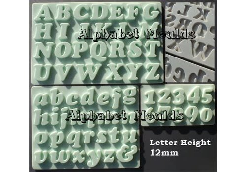 letters & cijfers cookie font 12mm AM0112