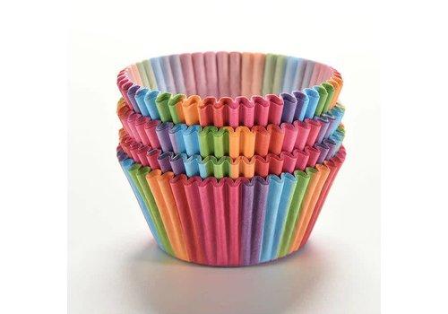 Cupcake wrapper regenboog