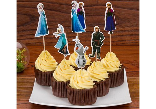 Frozen cupcake prikkers 24st A