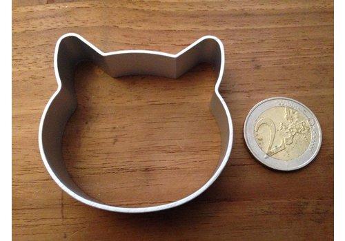 Kattenkop koekjesvorm aluminium