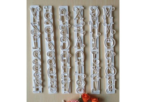 Letter en cijfer lineaal uitsteker