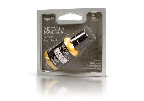 Metallic food paint light gold 20 ml
