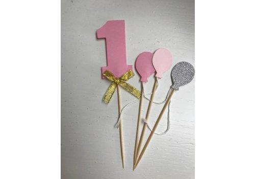 Nummer 1 prikker roze