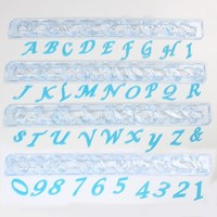 FMM Alphabet & Numbers tappits Upper Case SCRIPT Italic