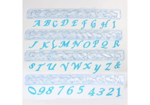 Alphabet & Numbers tappits Upper Case SCRIPT Italic