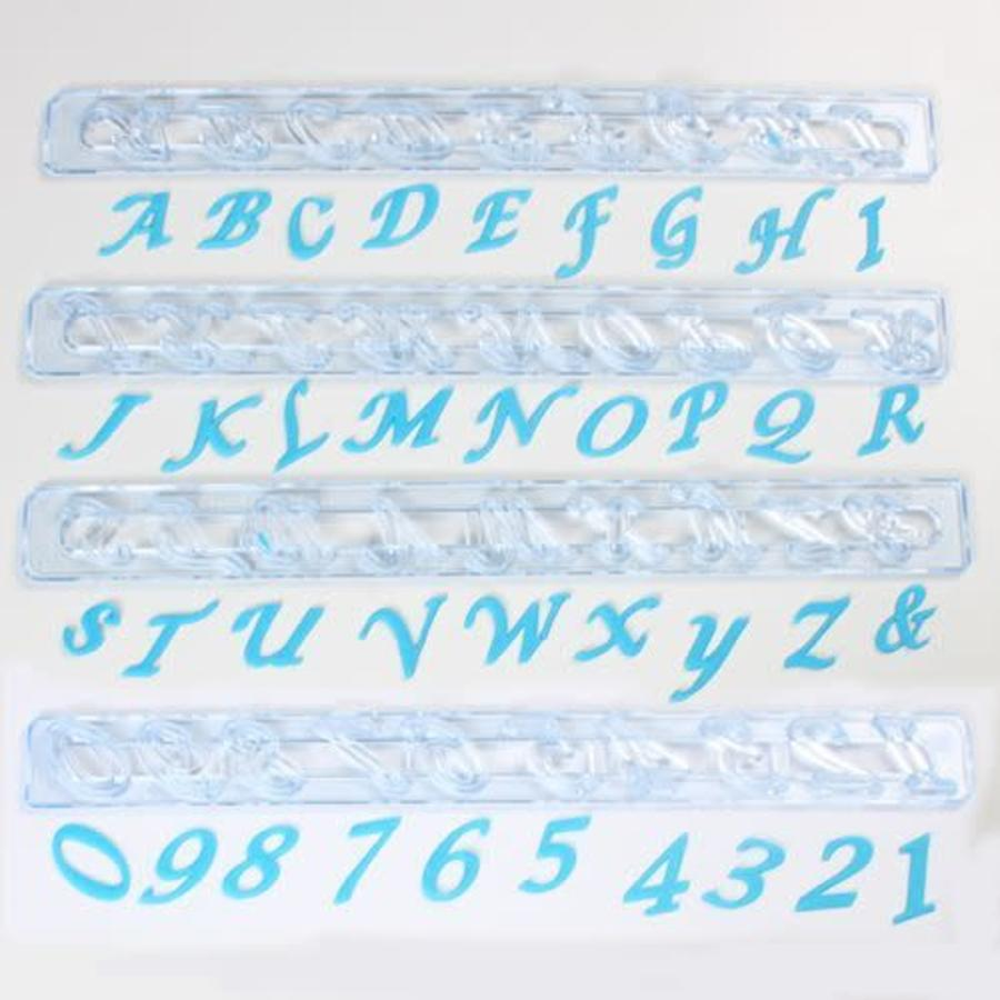 FMM Alphabet & Numbers tappits Upper Case SCRIPT Italic-1