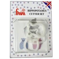 FMM Mummy & Baby Hippo Cutter Set/4