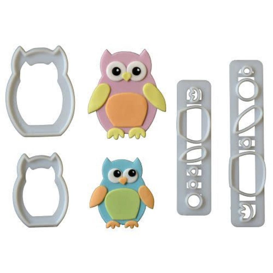 FMM Mummy & Baby Owl Cutter Set/4-1