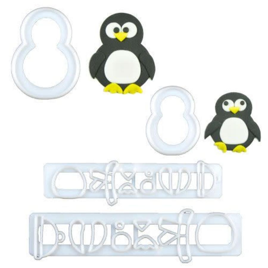 FMM Mummy & Baby Penguin Cutter Set/4-1