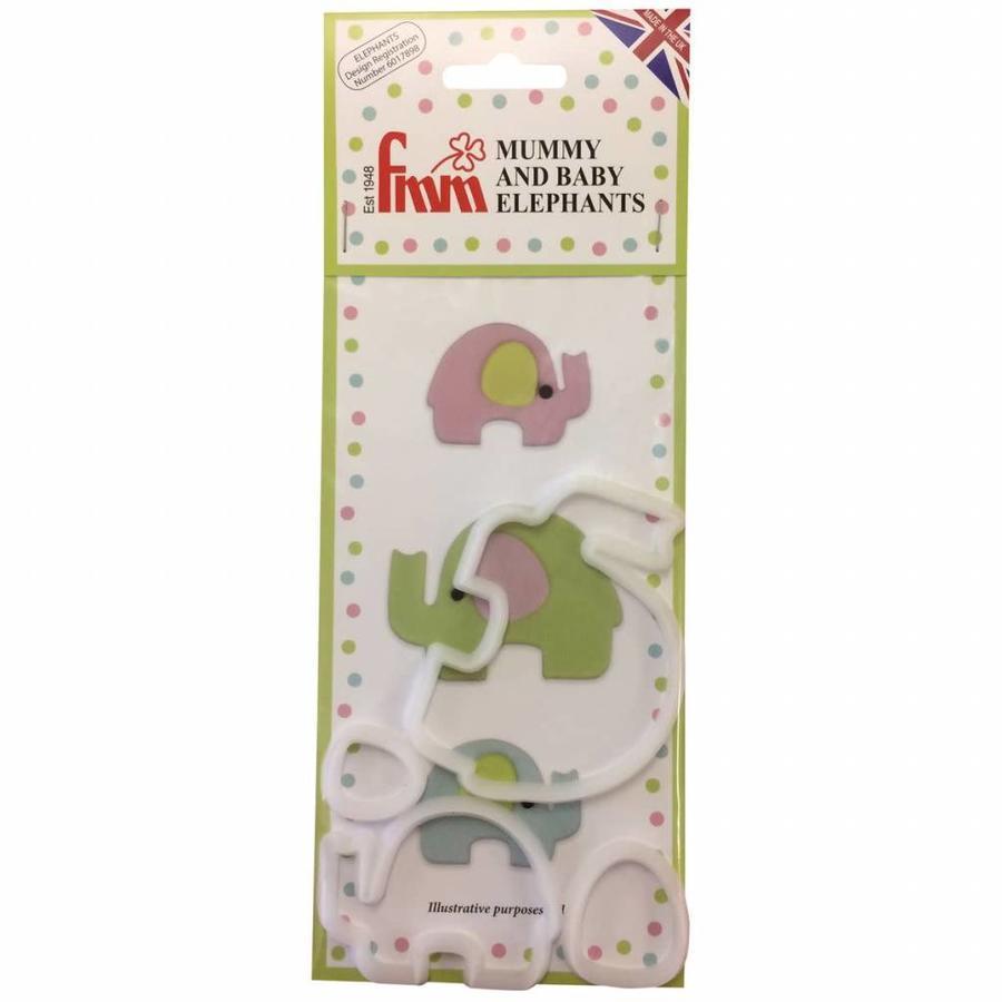 FMM Mummy and Baby Elephant Cutter Set/4-1