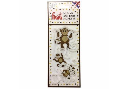 FMM Mummy and Baby Monkey Cutter Set/4
