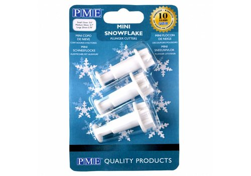 Mini Snowflake Plunger Cutter Set/3