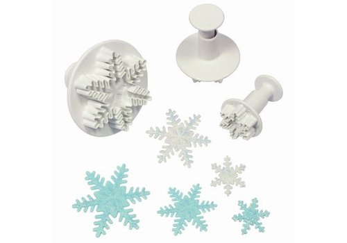 Snowflake Plunger Cutter set/3