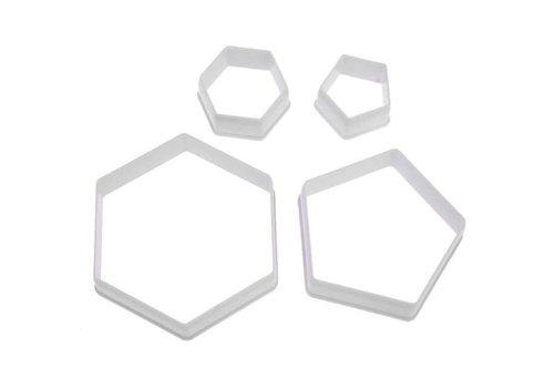 Hexagon voetbal uitsteker set
