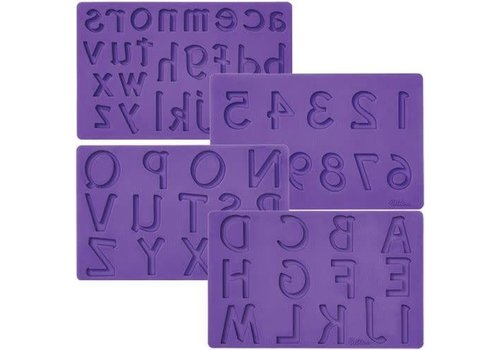 Fondant & Gum Paste Mold Letters/Numbers set/4