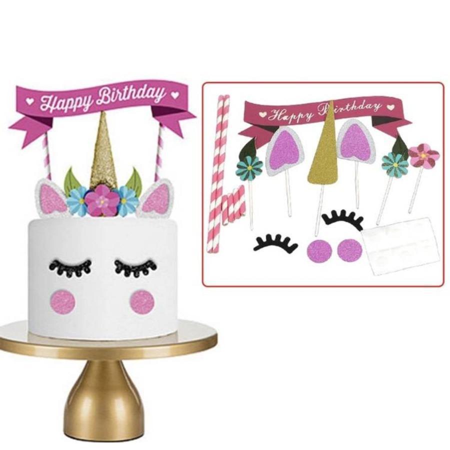 Eenhoorn taart set-1