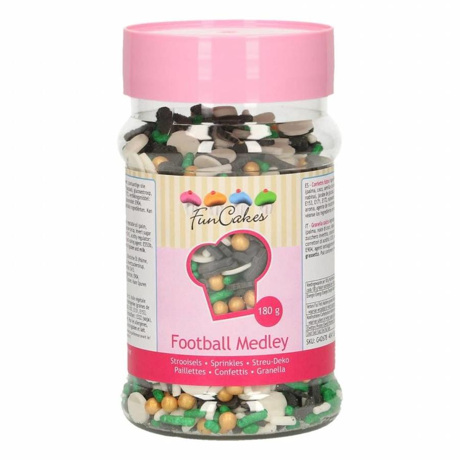 FunCakes Sprinkle Medley -Voetbal- 180g-1