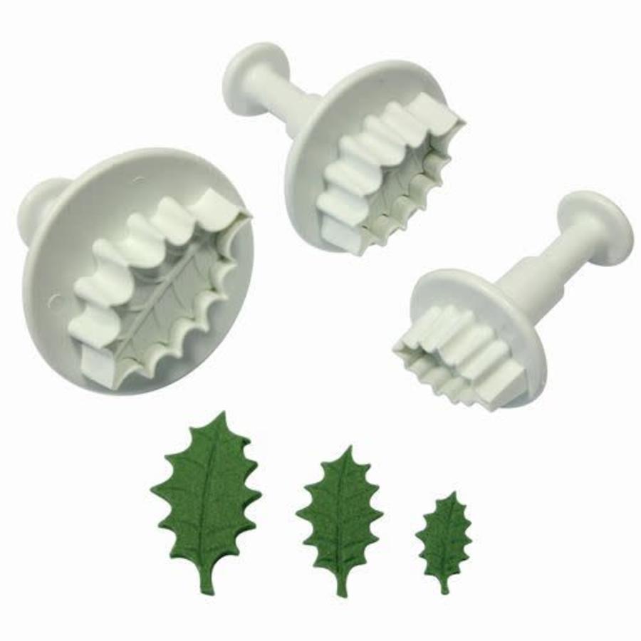 PME Holly Leaf Plunger Cutter Set/3-1