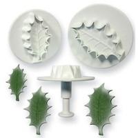 PME Holly leaf plunger cutter set/3 Large size