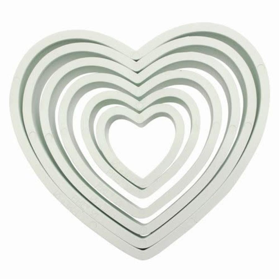 PME Plastic Cutter Heart Set/6-1