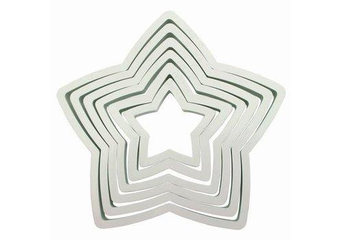 PME Plastic Cutter Star Set/6