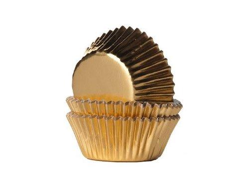 House of Marie Mini Baking Cups Folie Goud pk/36