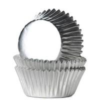 House of Marie Mini Baking Cups Folie Zilver pk/36