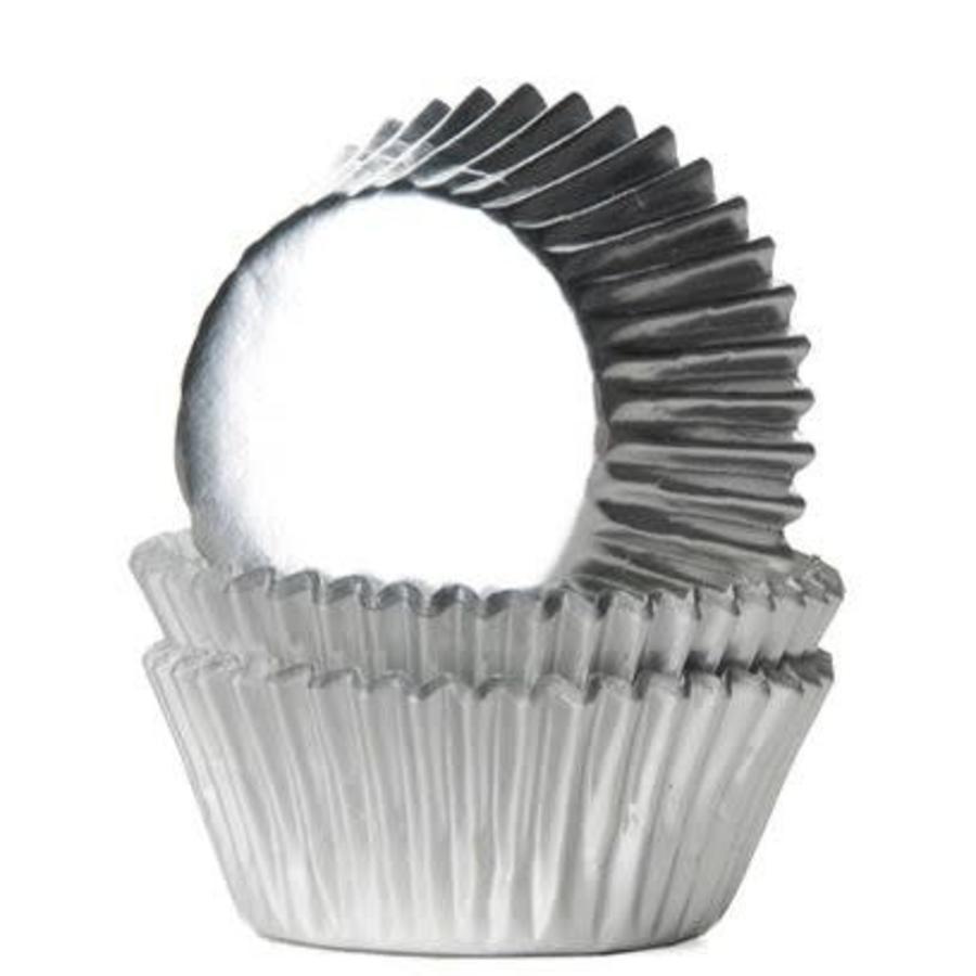 House of Marie Mini Baking Cups Folie Zilver pk/36-1