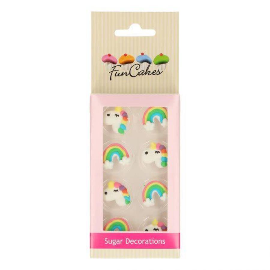 FunCakes Suikerdecoratie Eenhoorn & Regenboog Set/8-1