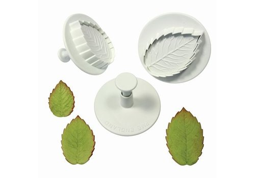 Rose leaf plunger cutter set/3 Large size