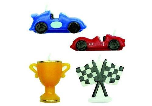 Candles Racing Cars Set/4