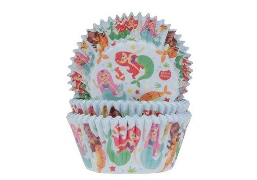 Baking Cups Zeemeermin pk/50