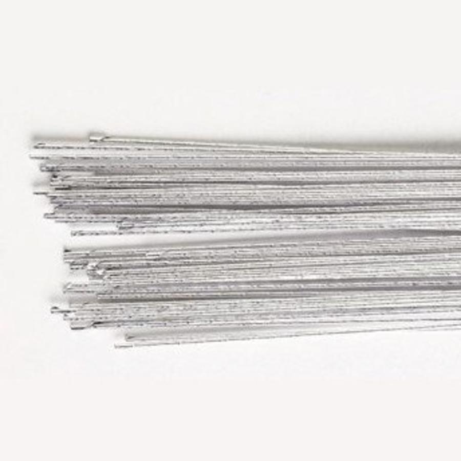 Culpitt Floral Wire Silver set/50 -24 gauge--1