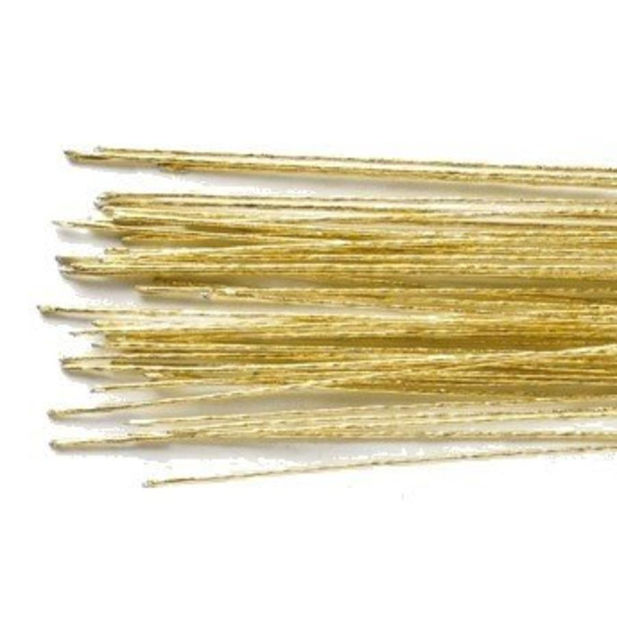 Culpitt Floral Wire Gold set/50 -24 gauge--1