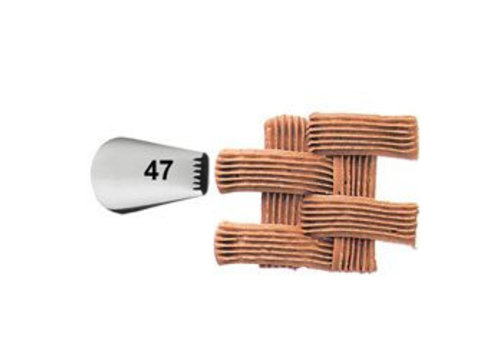 Wilton Decorating Tip #047 Basketweave Carded