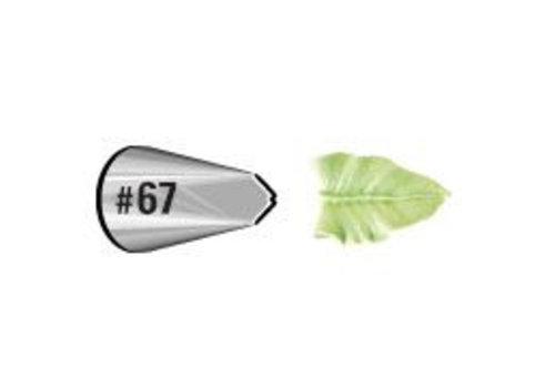 Wilton Decorating Tip #067 Leaf Carded
