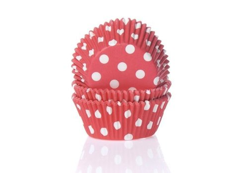 Baking cups Stip Rood - pk/50