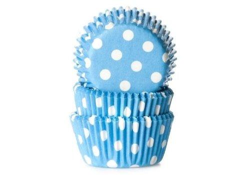 Baking cups Stip Blauw - pk/50