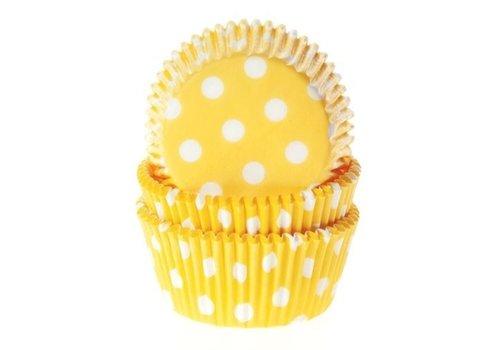 Baking cups Stip Geel - pk/50
