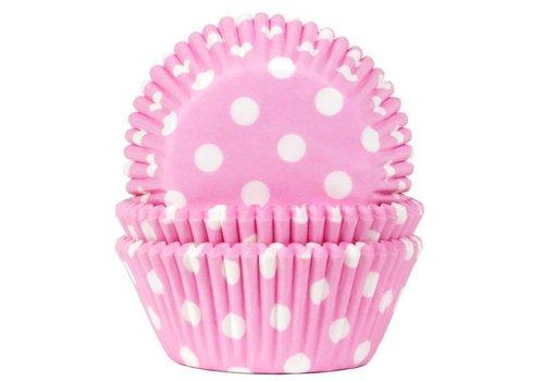 Baking Cups Stip Baby Roze pk/50