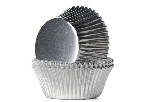 Baking Cups Folie Zilver pk/24